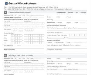 Account Application GentryWilson